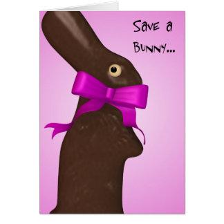 Ahorre una tarjeta de pascua del conejito