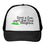 Ahorre una vaca comen a su vecino gorros bordados