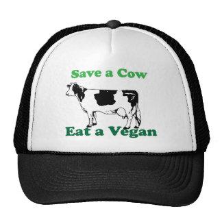 Ahorre una vaca gorros bordados
