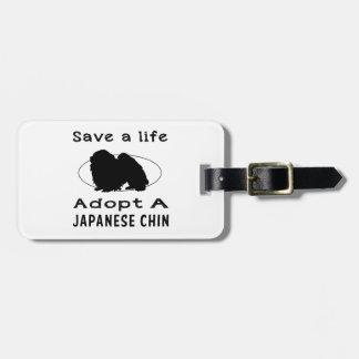 Ahorre una vida adoptan a un Chin japonés Etiquetas Para Maletas