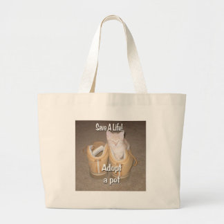 Ahorre una vida adoptan a un mascota bolsas de mano