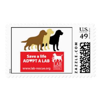 Ahorre una vida adoptan sellos de un laboratorio