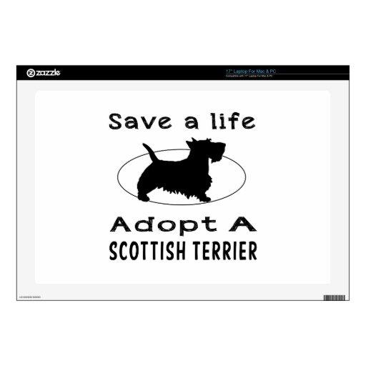 Ahorre una vida adoptan Terrier escocés Skins Para Portátil