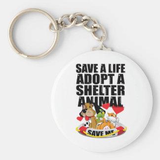 Ahorre una vida adoptan un animal del refugio llavero redondo tipo pin