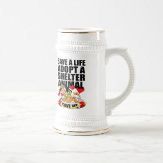 Ahorre una vida adoptan un animal del refugio taza de café