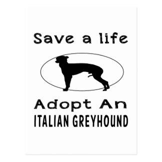 Ahorre una vida adoptan un galgo italiano postales