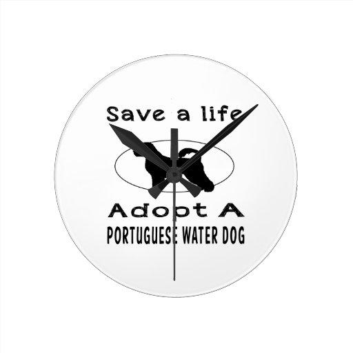 Ahorre una vida adoptan un perro de agua portugués relojes