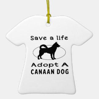 Ahorre una vida adoptan un perro de Canaan Adorno De Cerámica En Forma De Playera