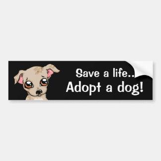Ahorre una vida adoptan un perro pegatina para auto