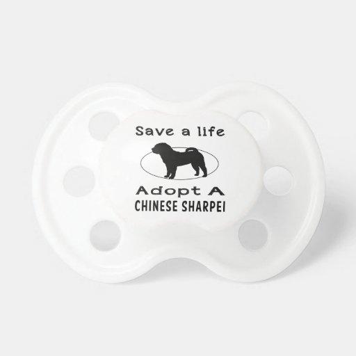 Ahorre una vida adoptan un Sharpei chino Chupete De Bebé