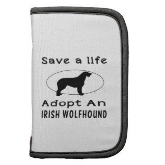Ahorre una vida adoptan un Wolfhound irlandés Organizadores