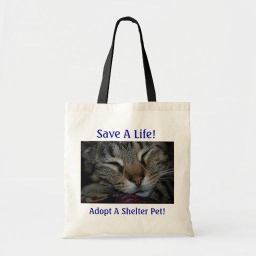 ¡Ahorre una vida! ¡Adopte a un mascota del refugio Bolsa