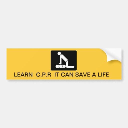 Ahorre una vida etiqueta de parachoque