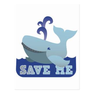 AHÓRREME pequeña ballena linda Postales