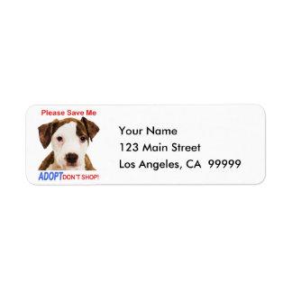 Ahórreme por favor que Adopt no hace compras Etiqueta De Remitente