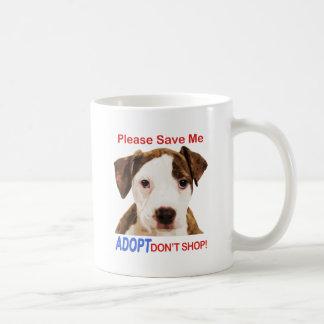 Ahórreme por favor que Adopt no hace compras Tazas De Café