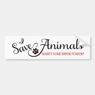 Ahorro animales cuál es su superpoder pegatina de parachoque