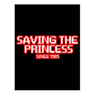 Ahorro de la princesa tarjetas postales
