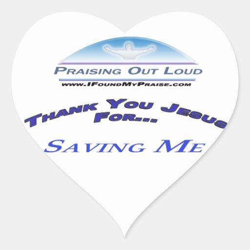 Ahorro de mí pegatina en forma de corazón