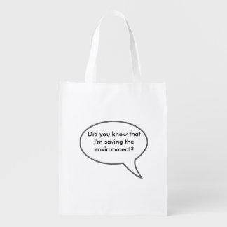 Ahorro del ambiente bolsas para la compra