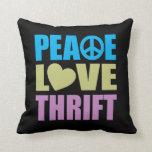 Ahorro del amor de la paz cojines