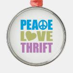 Ahorro del amor de la paz ornato