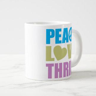 Ahorro del amor de la paz taza de café gigante