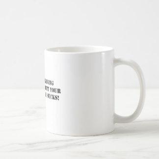 ahorro del negro del planeta en blanco taza básica blanca