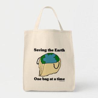 Ahorro del totebag de la tierra bolsa tela para la compra