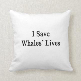 Ahorro las vidas de las ballenas cojines