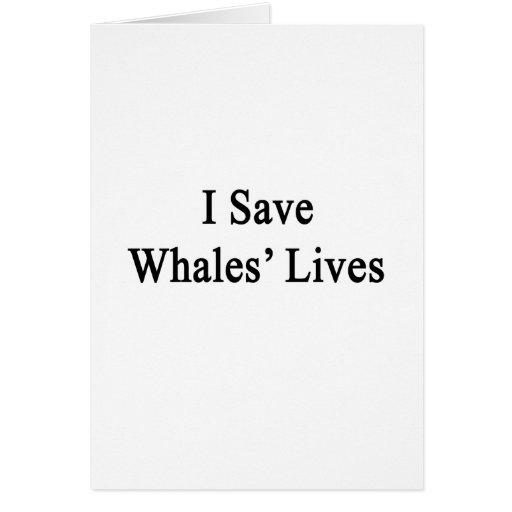 Ahorro las vidas de las ballenas felicitacion