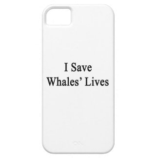 Ahorro las vidas de las ballenas iPhone 5 carcasas