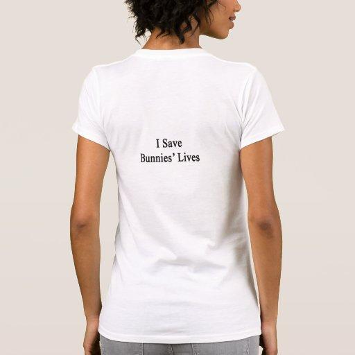 Ahorro las vidas de los conejitos camiseta