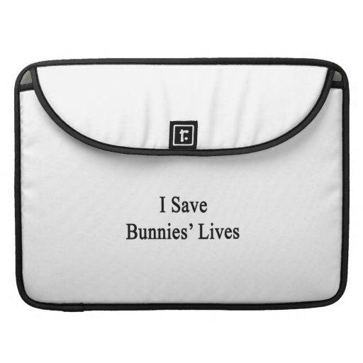 Ahorro las vidas de los conejitos funda para macbooks
