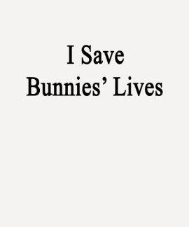 Ahorro las vidas de los conejitos camisetas