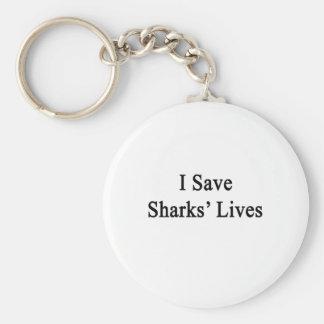 Ahorro las vidas de los tiburones llaveros personalizados