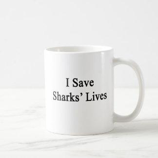 Ahorro las vidas de los tiburones tazas