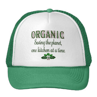 Ahorro orgánico el decir de la cocina del planeta gorras