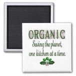 Ahorro orgánico la cocina del planeta que dice el  imán para frigorífico