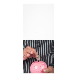 Ahorro para el retiro tarjeta publicitaria personalizada