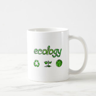 Ahorro verde de la ecología el mundo 2 taza clásica