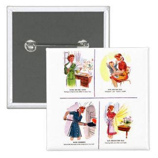 Ahorros retros del ama de casa de la mujer del kit pin