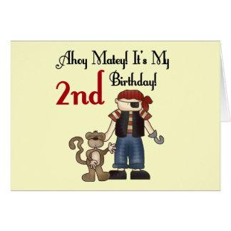 Ahoy 2das camisetas y regalos del cumpleaños del p tarjeta de felicitación