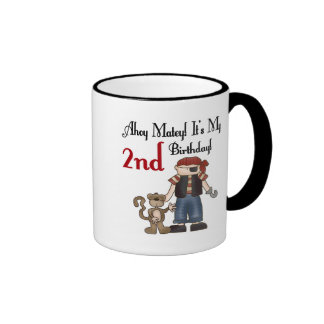 Ahoy 2das camisetas y regalos del cumpleaños del p taza de café