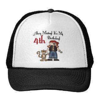 Ahoy 4tas camisetas y regalos del cumpleaños del gorras