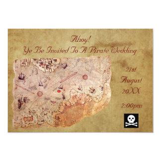 Ahoy! A Pirate Wedding Card