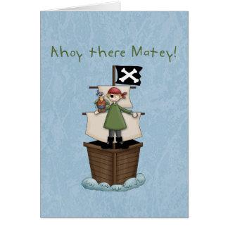 ¡Ahoy allí afable!  Gracias las notas Tarjetas