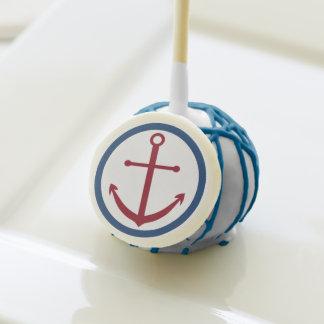 Ahoy allí estallidos rojos náuticos de la torta de