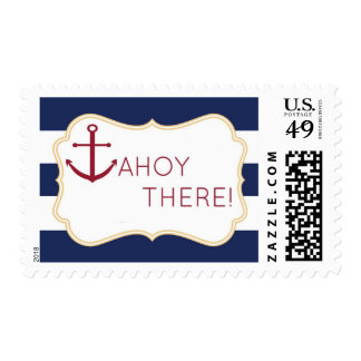 Ahoy allí franqueo náutico de la fiesta de bienven