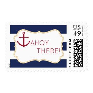 Ahoy allí franqueo náutico de la fiesta de sellos